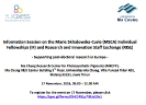 Information Session on the Marie Skłodowska-­‐Curie (MSCA) Individual Fellowships (IF) and Research and Innovation Staff Exchange (RISE)